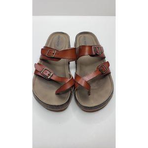 Steve Madden Brown J Beached Vegan Leather Sandal